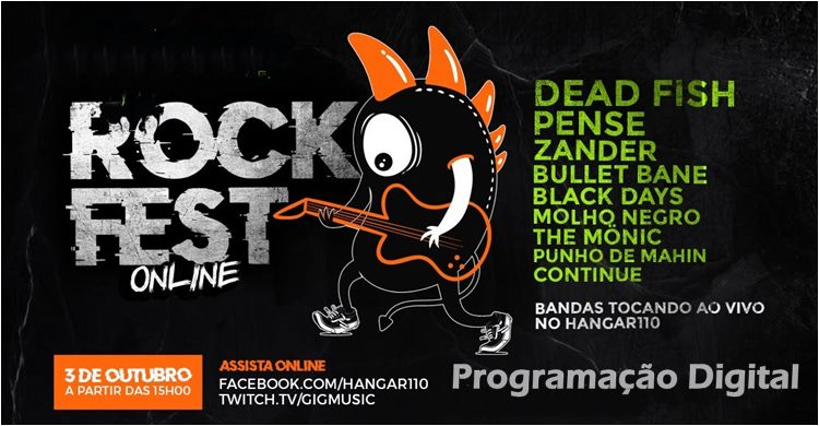 Monster Rock Fest Online - Programação Digital