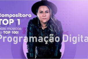 Lari Ferreira no ranking de compositores da Audiency - programacaodigital.com