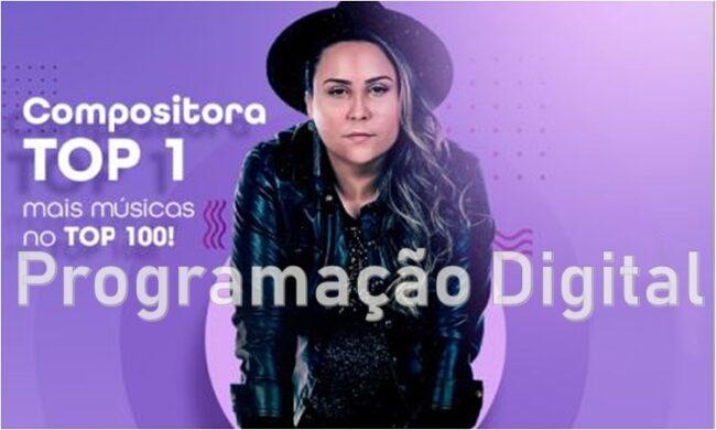 Lari Ferreira no ranking de compositores da Audiency - programacaodigital.com