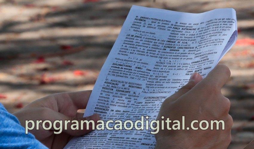 Prova do ENEM -Programação Digital - programacaodigital.com