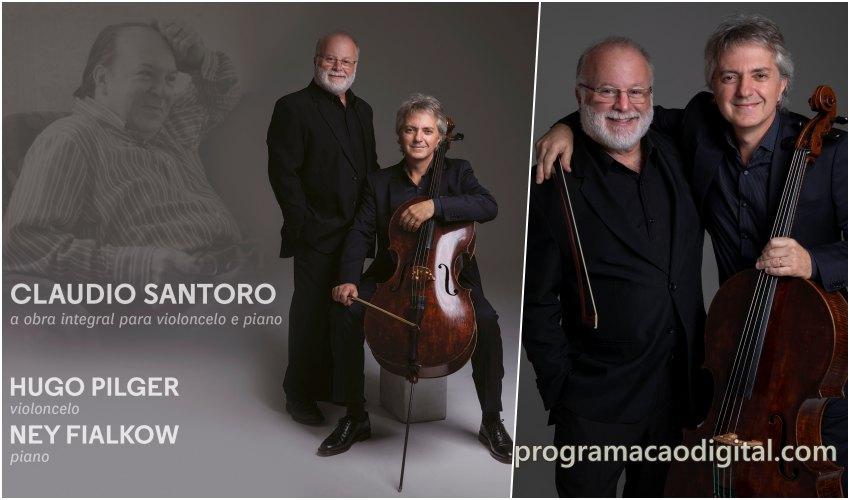Músicos gaúchos -Hugo Pilger e Ney Fialkow - violoncelo e piano - programacaodigital.com